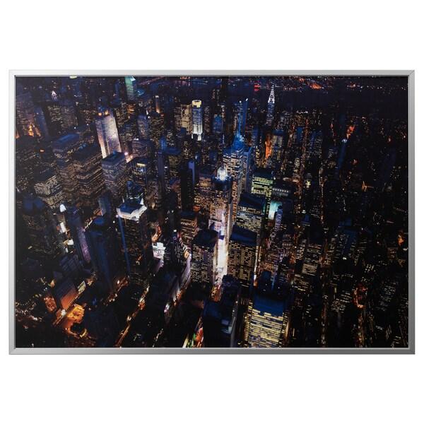 Image Avec Cadre Björksta Les Lumières De La Ville New York Couleur Aluminium
