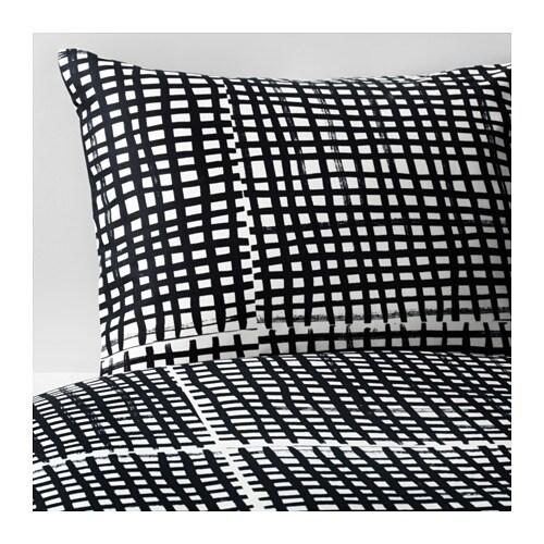 bj rnloka ruta housse de couette et taie 150x200 65x65 cm ikea. Black Bedroom Furniture Sets. Home Design Ideas