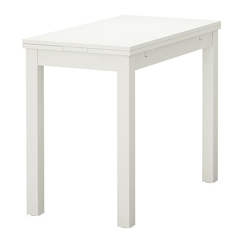 Bjursta table extensible blanc ikea - Ikea table cuisine pliante ...