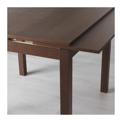 bjursta table extensible - brun noir - ikea
