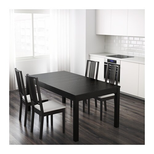 bjursta table extensible brun noir ikea. Black Bedroom Furniture Sets. Home Design Ideas