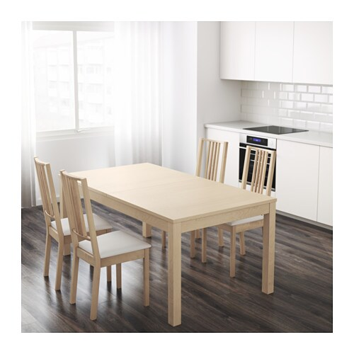 bjursta table extensible plaqu bouleau ikea. Black Bedroom Furniture Sets. Home Design Ideas