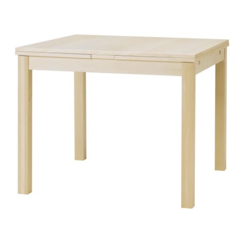 Bjursta table extensible plaqu bouleau ikea - Table a manger extensible ikea ...