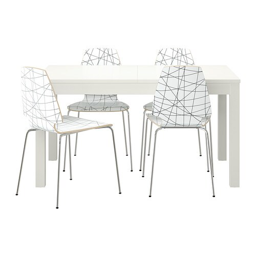 Bjursta vilmar table et 4 chaises ikea for Table et chaise ikea