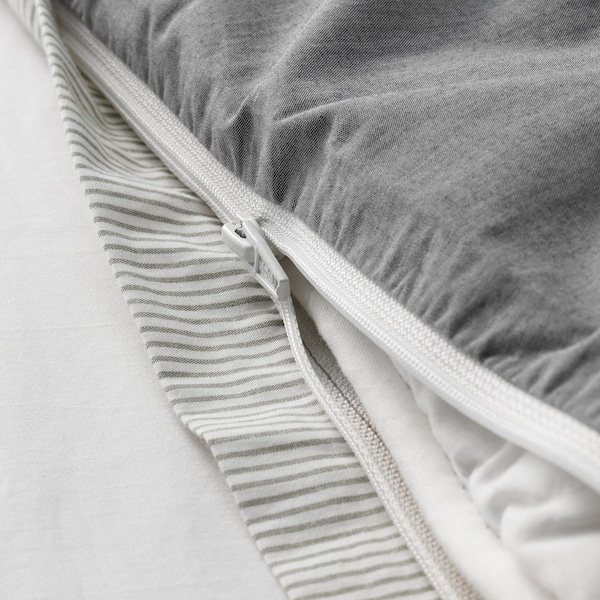 BLÅVINDA Housse de couette et taie, gris, 150x200/65x65 cm
