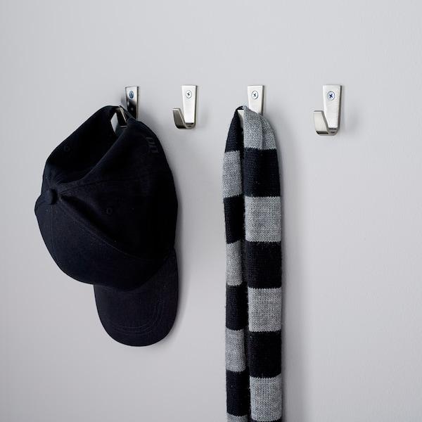 BLECKA Crochet, nickelé, 4 cm