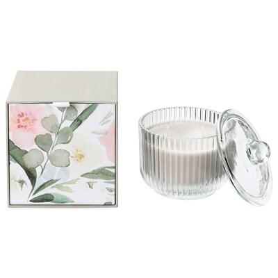 BLOMDOFT bougie parf 2 mèches ds verre glaïeul/gris 11 cm 11 cm 30 hr
