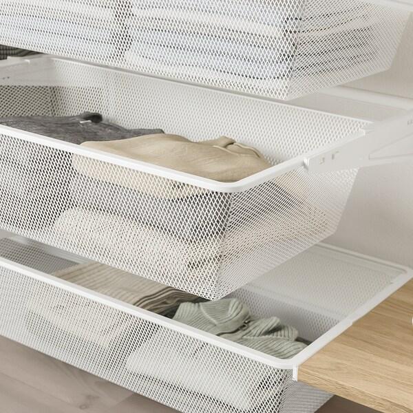 BOAXEL 4 sections, blanc/chêne, 250x40x201 cm