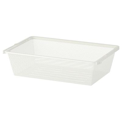 BOAXEL Corbeille en filet, blanc, 60x40x15 cm