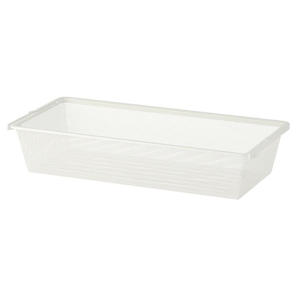 BOAXEL Corbeille en filet, blanc, 80x40x15 cm