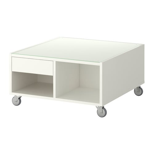 Boksel table basse blanc ikea for Table filaire