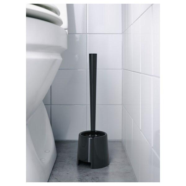 BOLMEN Porte-brosse WC, noir