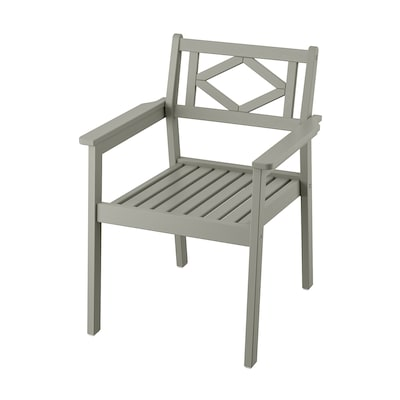 BONDHOLMEN Chaise avec accoudoirs, extérieur, gris