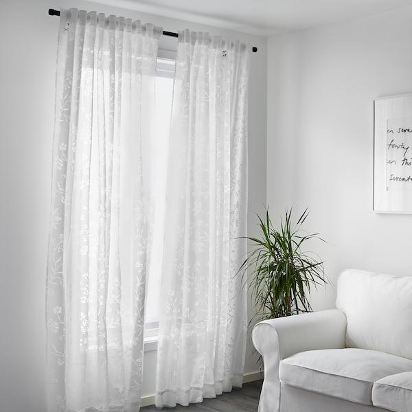 BORGHILD Voilage, 2 pièces, blanc, 145x300 cm