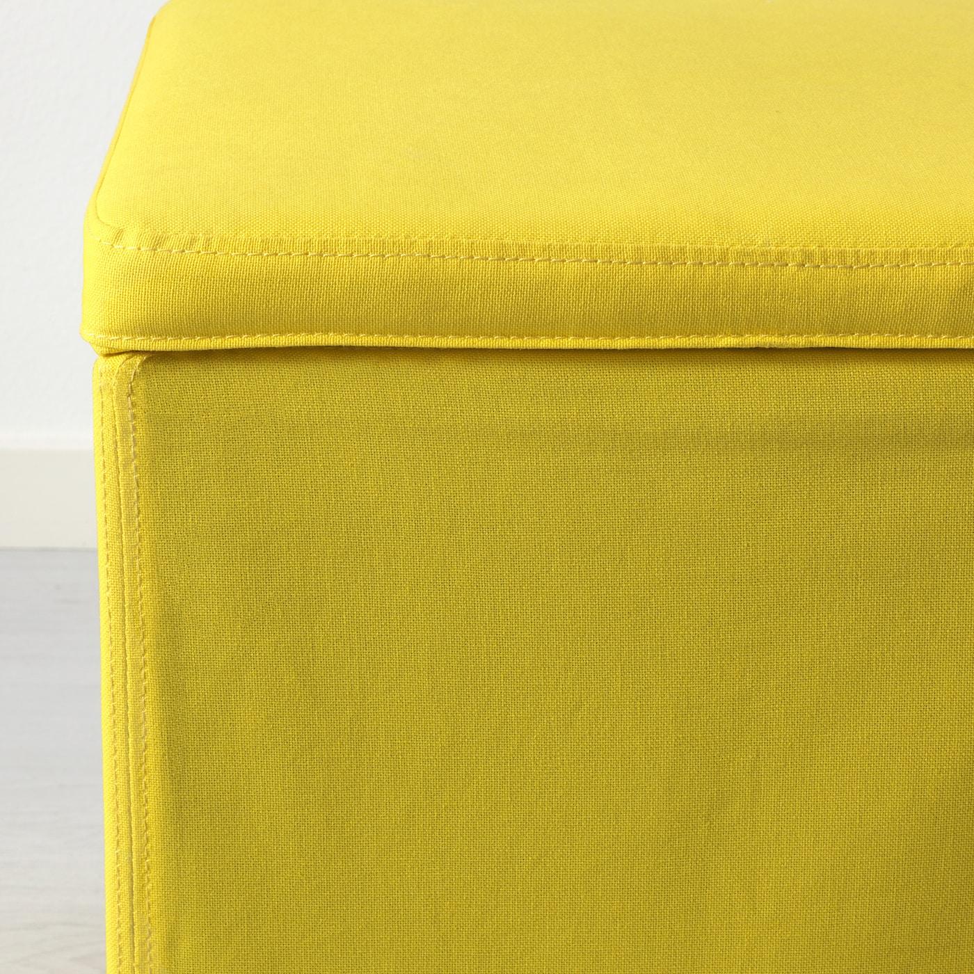 Bosnas Repose Pieds Av Rangement Ransta Jaune Ikea