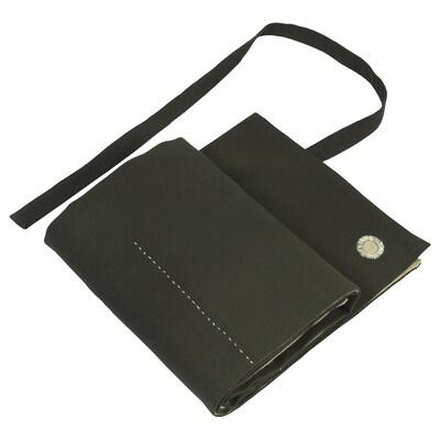 BOTANISK tablier range-outils vert foncé beige/fait main 60 cm 100 cm