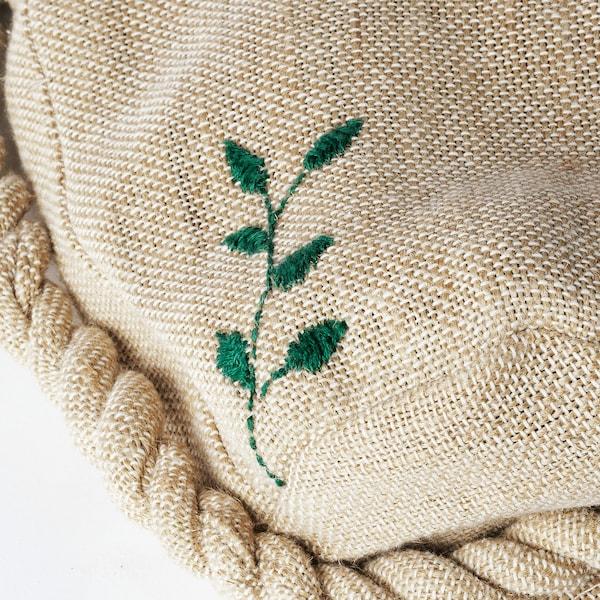 BOTANISK Jardinière suspendue, beige fait main, 9 cm