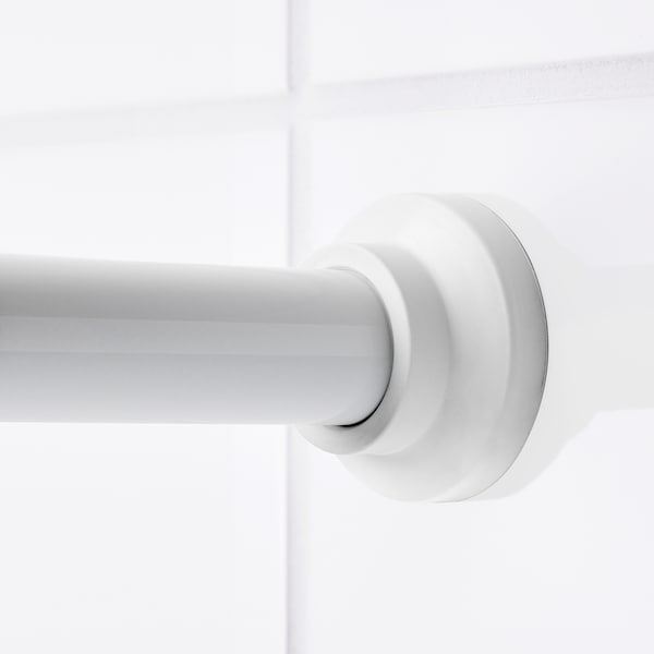 BOTAREN tringle à rideau de douche blanc 120 cm 200 cm