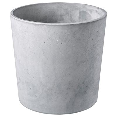 BOYSENBÄR Cache-pot, intérieur/extérieur gris clair, 24 cm