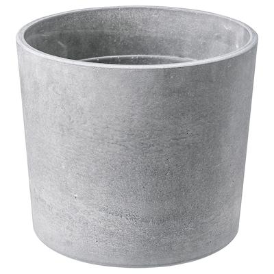 BOYSENBÄR cache-pot intérieur/extérieur gris clair 16 cm 18 cm 15 cm 16 cm