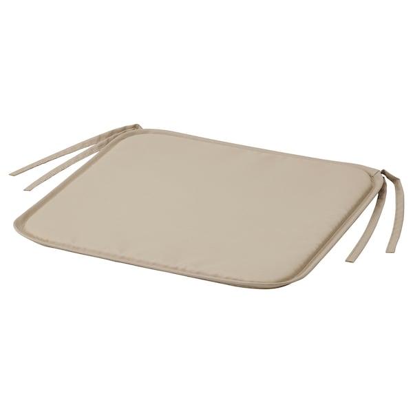 BRÄMÖN Carreau de chaise, gris-beige intérieur/extérieur, 34x34x1.0 cm