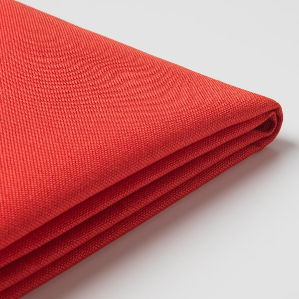 BRÅTHULT Housse canapé angle, Vissle rouge orange