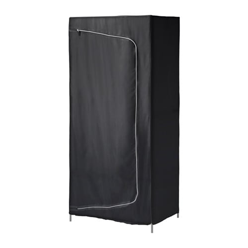 breim armoire penderie noir ikea. Black Bedroom Furniture Sets. Home Design Ideas