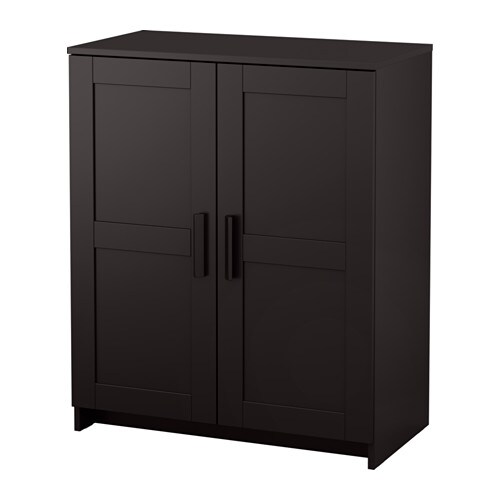 brimnes armoire avec portes noir ikea. Black Bedroom Furniture Sets. Home Design Ideas