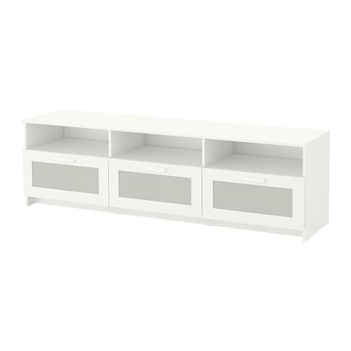 brimnes banc tv blanc ikea. Black Bedroom Furniture Sets. Home Design Ideas