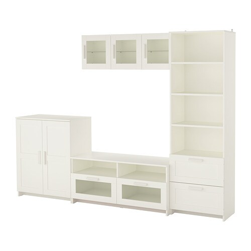 BRIMNES Combinaison meuble TV - blanc - IKEA - Meuble Tv Blanc Ikea