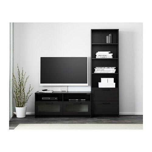 Brimnes Combinaison Meuble Tv Noir Ikea