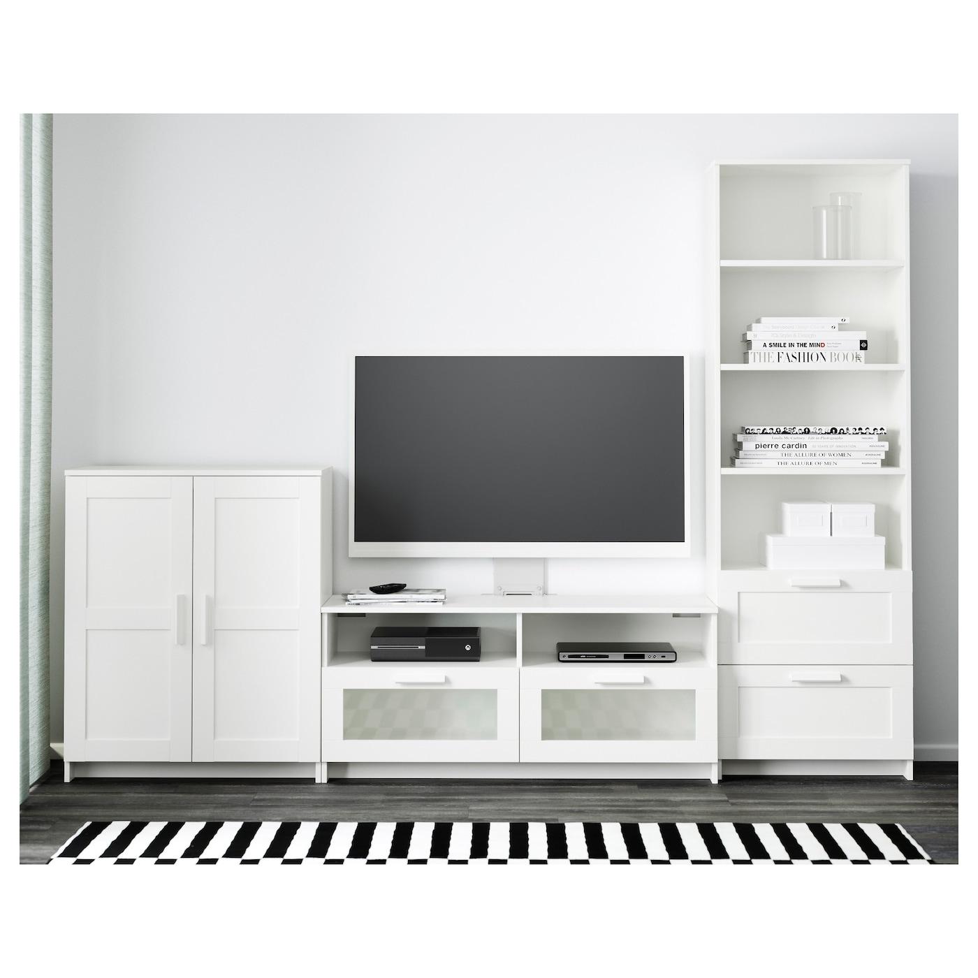 Meuble Tv Colonne Ikea brimnes combinaison meuble tv - blanc 258x41x190 cm