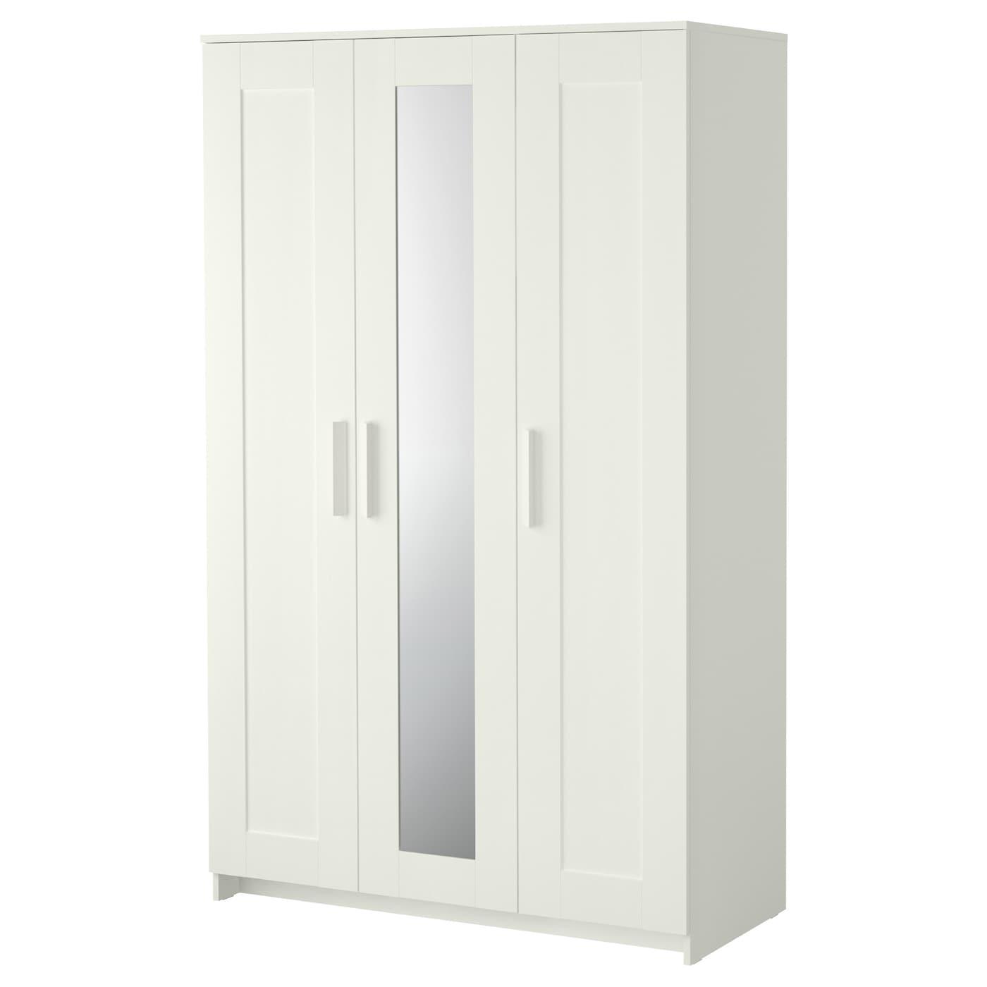 Porte Laque Blanc Ikea brimnes armoire 3 portes - blanc 117x190 cm
