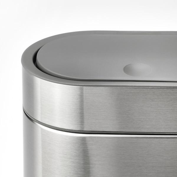 BROGRUND Poubelle ouverture à pression, acier inoxydable, 4 l