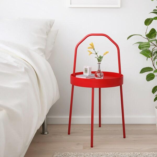 BURVIK table d'appoint  rouge 78 cm 45 cm 38 cm