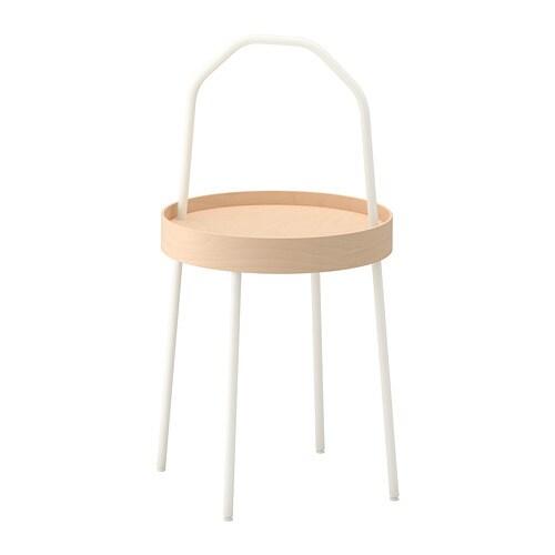 Burvik Table D Appoint Blanc Ikea
