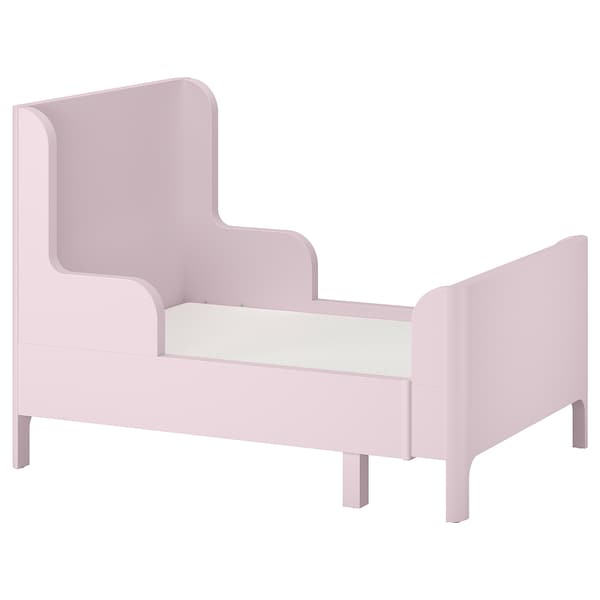 BUSUNGE Lit extensible, rose clair, 80x200 cm IKEA