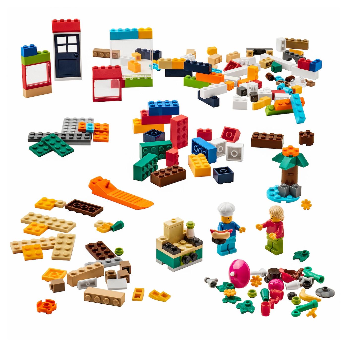 Ensemble De 3 Blanc Ikea Bygglek lego Boîte avec Couvercle