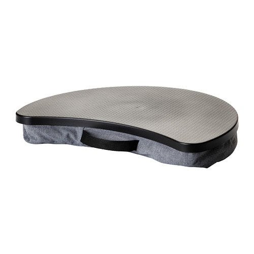 Byllan support ordinateur portable vissle gris noir ikea for Mobile porta pc ikea