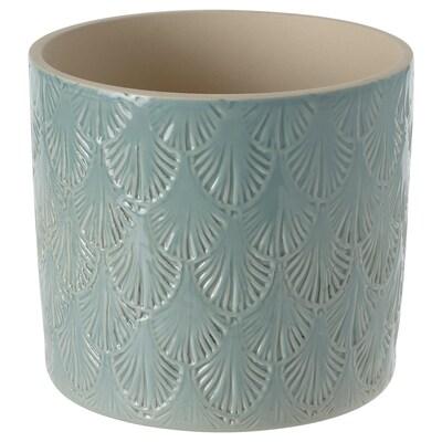 CHIAFRÖN Cache-pot, intérieur/extérieur bleu clair, 12 cm
