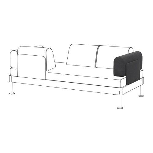 DELAKTIG Accoudoir avec coussin   Hillared anthracite   IKEA