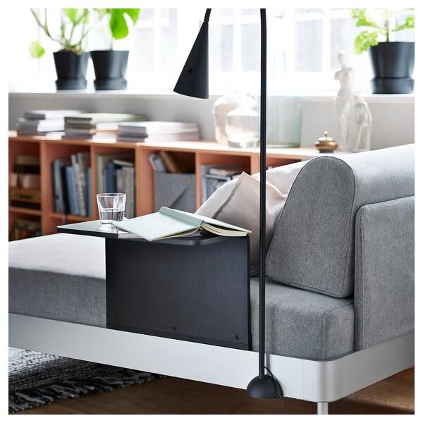 DELAKTIG lampadaire à LED noir 160 cm 14 cm 10 cm 1.9 m 3.4 W