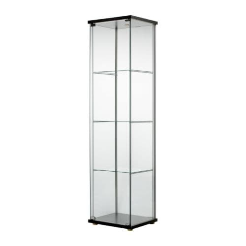detolf vitrine brun noir ikea. Black Bedroom Furniture Sets. Home Design Ideas