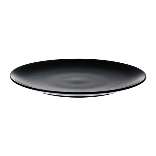 Dinera assiette ikea for Service de table noir