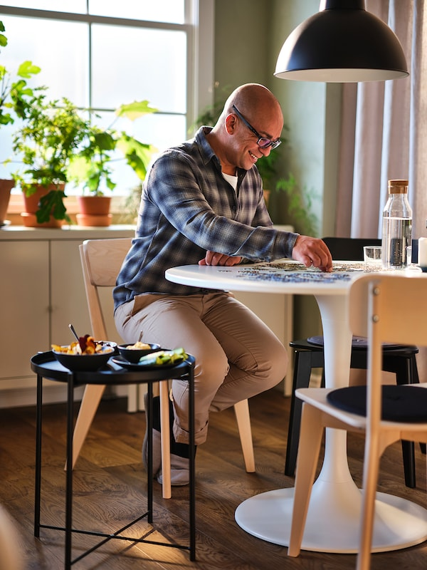 DOCKSTA Table, blanc/blanc, 103 cm