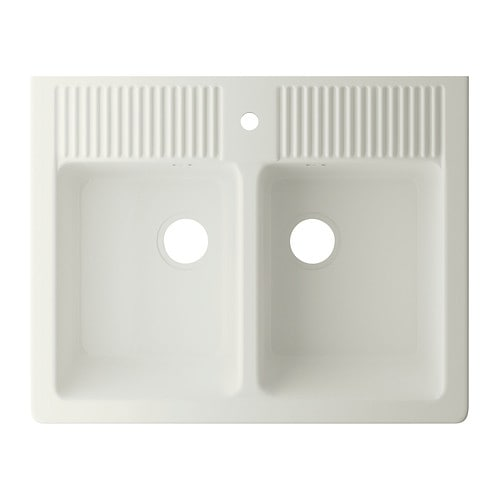 Gallery of double evier cuisine ikea domsj vier double for Evier double bac ceramique