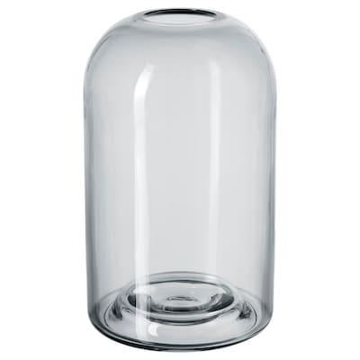 DRÖMSK Vase, gris, 18 cm
