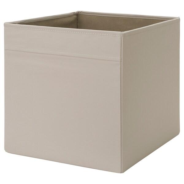 DRÖNA Rangement tissu, beige, 33x38x33 cm