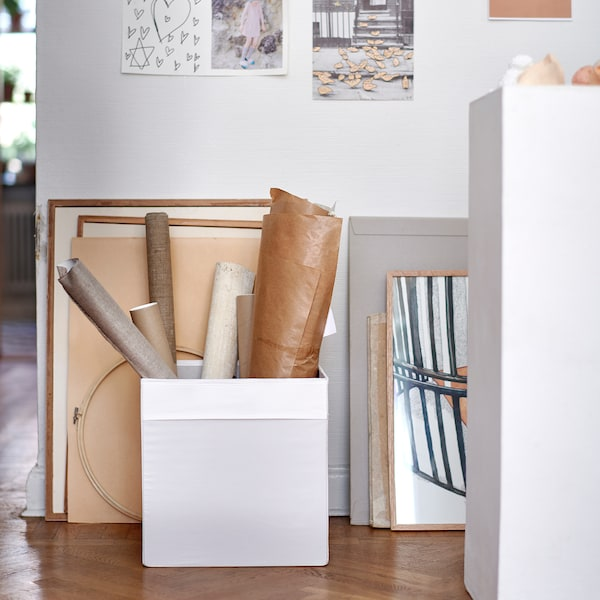 DRÖNA Rangement tissu, blanc, 33x38x33 cm