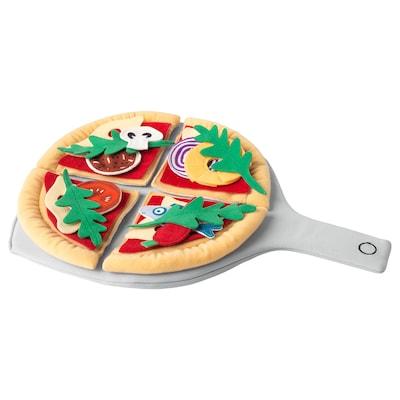 DUKTIG Pizza en peluche, 24 pièces, pizza/multicolore
